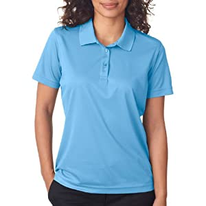 UltraClub Cool and Dry Women's Moisture Wicking Mesh Polo Cleaning Shirt