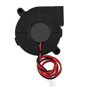 Fishlor Ventilador para Impresora 3D, DC 12 / 24V 50 * 15 mm ...