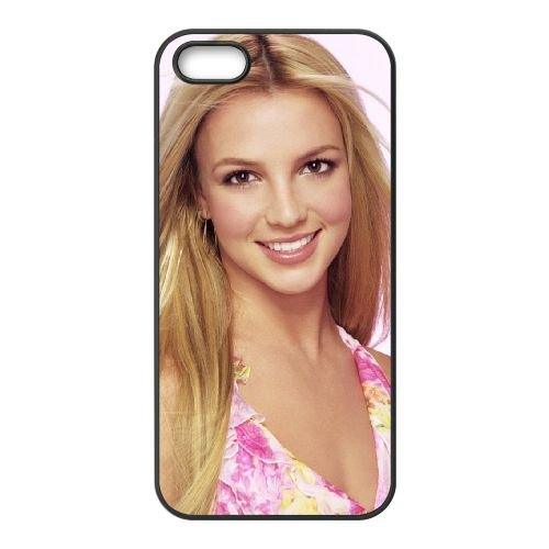 Britney Spears 003 coque iPhone 4 4S cellulaire cas coque de téléphone cas téléphone cellulaire noir couvercle EEEXLKNBC23826