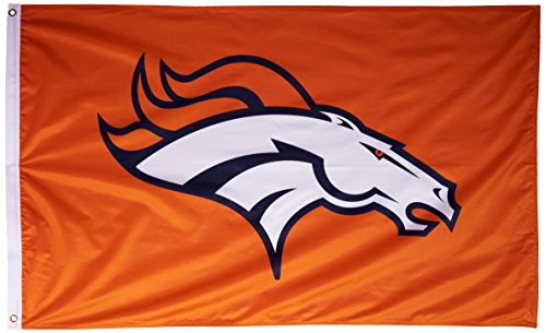 NFL Denver Broncos Banner Flag 3-Foot by 5-Foot