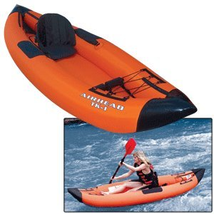Airhead Travel Deluxe Kayak, Orange/Blue
