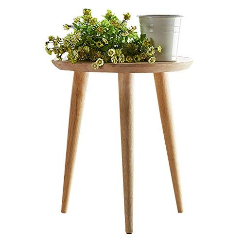 WoodShine Side Table Small Round Home and Office Sofa End Tables Solid Wood Multi Nesting Coffee Table for Living Room