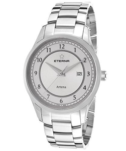Eterna Men's Artena Stainless Steel Watch - Silver/White