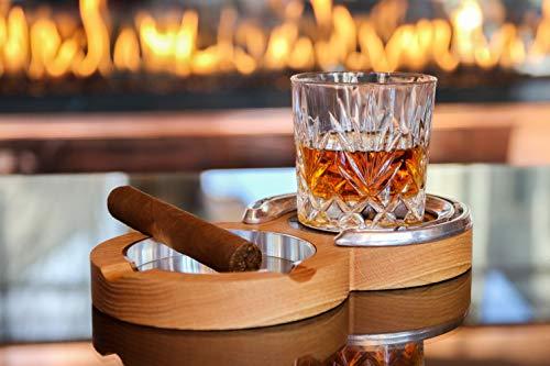 Oak Kentucky Double Cigar Ashtray Coaster