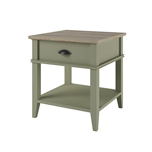 Altra Newport Accent Table With Drawer, Beach Sand/Laguna Oak