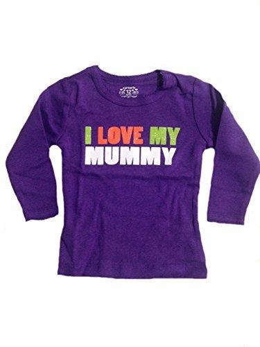 Carter's Baby Girls' Purple Long Sleeve I Love Mummy Halloween Shirt (12 Months) ()
