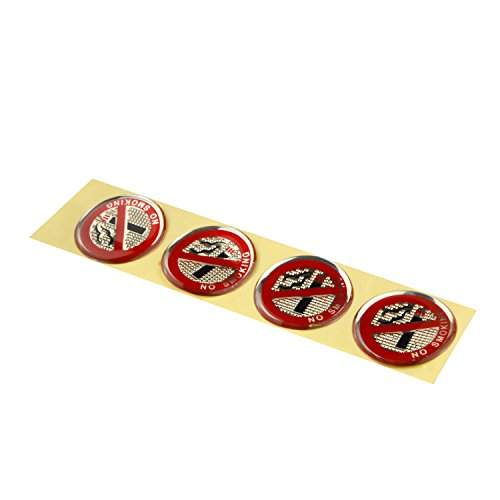 Zyhw 4 Pcs Vehicle Reflective Red Clear Soft Plastic No Smoking Sign Stickers