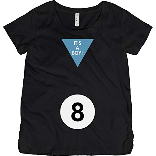 Magic 8 Ball Boy Costume: Maternity Cotton T-Shirt Black