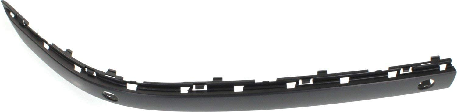Set of 2 From 3-2005 Primed Front Bumper Molding Compatible with 2006-2008 BMW 750Li // 750i Outer with Sensor Hole Driver and Passenger Side