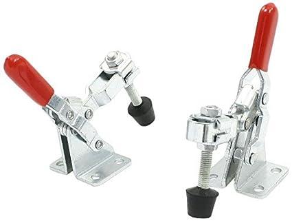 eDealMax 101A 50Kg 110 libras rápida Holding Vertical Tipo Toggle Clamp, rojo, de 2