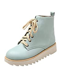 Naladoo Womens High-Top Flats Platform Sneakers Shoes Casual Sports Shoes Boots
