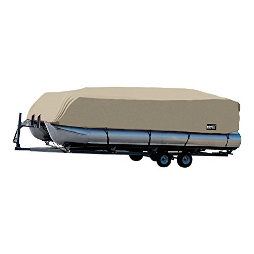 MSC Trailerable Pontoon Boat Cover 300D UV,Mainre Grade, Color Grey,Pacific