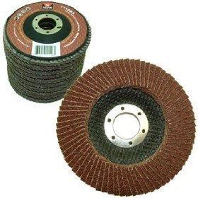 "Neiko 11108A Aluminum Oxide Flap Disc | 4.5"" x 7/8-Inch, 80"