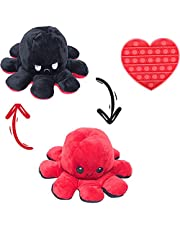 Octopus Plush Toys, Double-Sided Flip Octopus Doll, Cute and Soft Reversible Octopus Stuffed Animals Doll,Mini Plushies Creative Toy Suitable for Children's Family and Friends