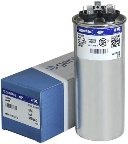 GE Genteq Capacitor Dual Run Round 35//5 uf MD 440 Volt VAC Z97F9848 97F9848