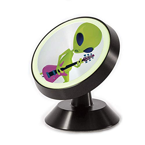 Magnetic Dashboard Cell Phone Car Mount Holder,Playing Electric Guitar Music Monster Decorative,can be Adjusted 360 Degrees to Rotate,Phone Holder Compatible All Smartphones ()