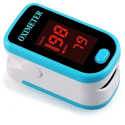 Pulse Oximetry Measurement - Pulse Oximeter Portable Digital Oxygen Sensor with SPO2 Alarm FDA Approved For Adults and Children