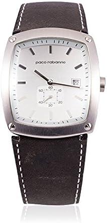 Paco rabanne - Reloj de Cuarzo Man 81217 Plateado: Amazon.es: Relojes