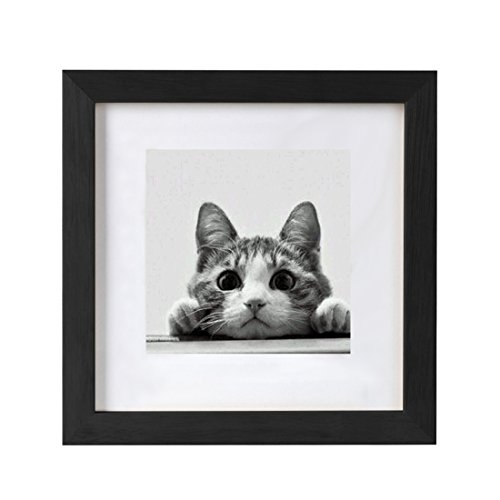BOJIN 10x10 Picture Frames Matted to 6x6 Photo Poster Frame for Wall - To Glasses Fix How On Scratches