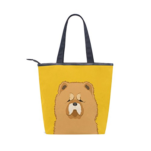 Handbag Chow Shoulder Canvas MyDaily Womens Dog Bag Tote RwqfAxAI0