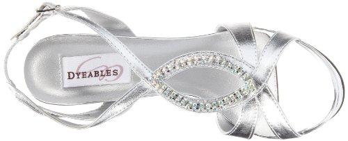 Dyeables Femmes Cheer Plate-forme Sandale Argent Métallisé