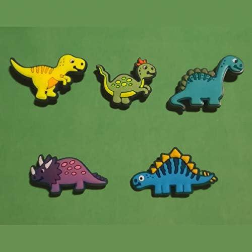 2D PVC Shoe Charms Similar to Jibbitz /& fits Crocs Dinosaurs 2 5pcs