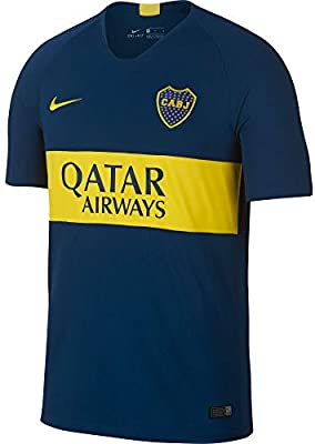 Nike Boca Home STD JSY, Camiseta de fútbol para Hombre, Hombre, 894429-425, Brave Blue/Tour Yellow/Tour Yellow, Large
