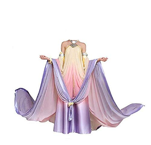 Queen Padme Amidala Naberrie Lake Dress Halloween Cosplay Costume for Women 3XL]()