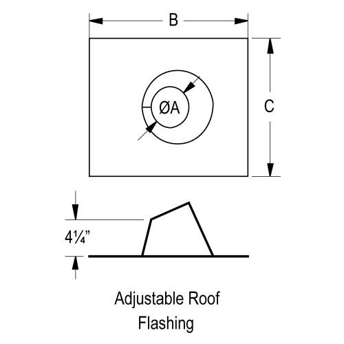 177103 3'' Adjustable Flashing