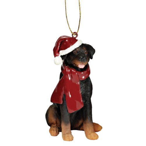 - Design Toscano Christmas Ornaments - Xmas Rottweiler Holiday Dog Ornaments