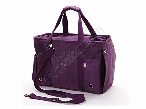 Petsmartpm 140PPD Purple Nylon Dog Carrier Purse Pet Carrier Bag Cat Tote Bag Puppy Handbag Doggy Cage by Petsmartpm