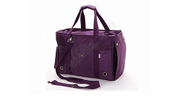 petsmartpm 140ppd morado nailon perro portador bolso portador del animal doméstico bolsa Gato bolso de mano bolso cachorro perro Jaula: Amazon.es: Productos ...