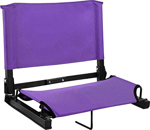 (Sports Unlimited Wide Stadium Chair Bleacher Seat with Back & Cushion Seat, Foldable & Portable)