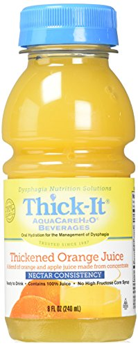 Thick-It Aquacareh Beverage Thickened Orange Juice Nectar Consistency, Orange Juice, 8 Ounce ()