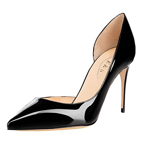 EKS - Zapatos de vestir de Material Sintético para mujer Schwarz-Lackleder