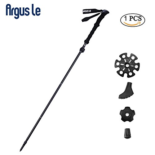 Argus Le Collapsible Trekking Poles-Compact, Hiking Climbing Walking Sticks Trail Poles with Sweat Absorbing EVA Grips,Tungsten Tips,Flip Locks,4 Season/All Terrain Accessories and Carry - Stick Bag Walking