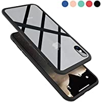 Clear Hybrid iPhone X Case by Ztotop, Thin Tempered Glass...