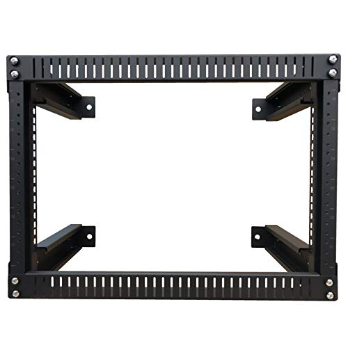 Kenuco 9U Adjustable Depth Wall Mount Open Frame Steel Network Equipment Rack 17.75 Inch Deep by KENUCO (Image #2)