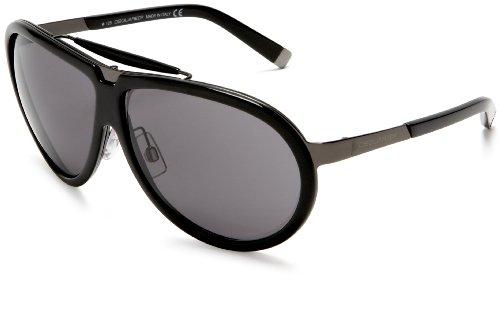 DSQUARED2 Unisex DQ0003 Aviator Sunglasses,Black Frame/Smoke Lens,one - Glasses Deals Friday Black