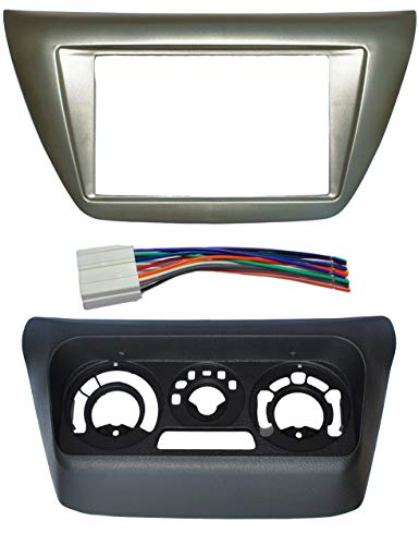 - Complete Install Double Din Dash Trim Frame Kit Fitted For Mitsubishi Lancer 2002-2007