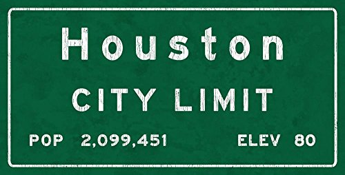 Houston City Limit Metal Sign Texas, Population, Census, Travel