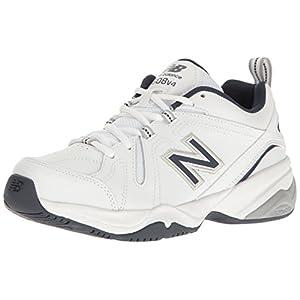 New Balance Men's MX608v4 Training Shoe, White/Navy, 12 D US