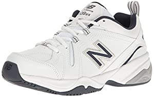 New Balance Men's MX608v4 Training Shoe, White/Navy, 10 D US