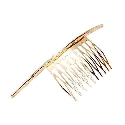 Lange Gebogene Einsteckkamm Haarkamm Steckkamm Haarspange Haarkämme - Gold