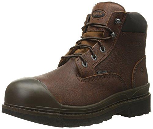 Wolverine Men's Lawson INT Met SR 6 InchSteel Work Boot, Brown, 10.5 M (Met Mens Boots)
