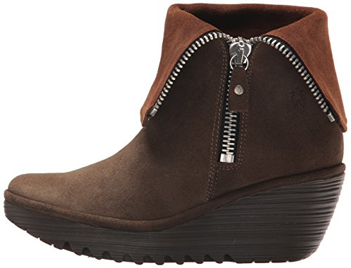 FLY London Women's Yex668fly Mid Calf Boot, Sludge/Camel Oil Suede, 41 M EU (10 US) by FLY London (Image #5)