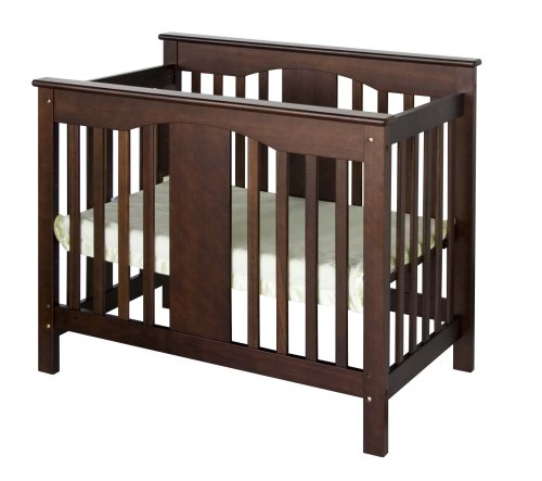 DaVinci Annabelle 2-in-1 Mini Crib and Twin Bed, Espresso by DaVinci