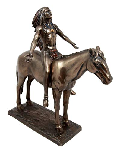 Ky & Co YK Native Indian Medicine Man with Eagle Feather Headdress On Horse Figurine 8