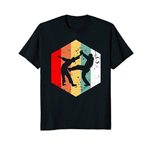 Love Fighters T-shirt (Retro Vintage 70s Krav Maga T-Shirt Fighter Fan Love Gift)