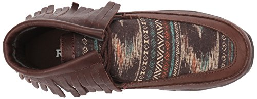 Roper Women's Santa Fe Driving Style Loafer, Tan, One Size Brown